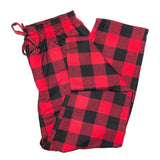 Mens Lounge Pant in Red Black