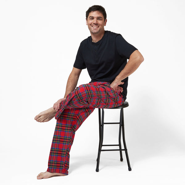 Rocky Mountain Flannel Men's Flannel Lounge Pant in Royal Stewart Lounge View