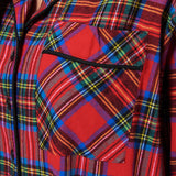 Rocky Mountain Flannel Knee Length Flannel Nightshirt in Royal Stewart Tartan Pocket View