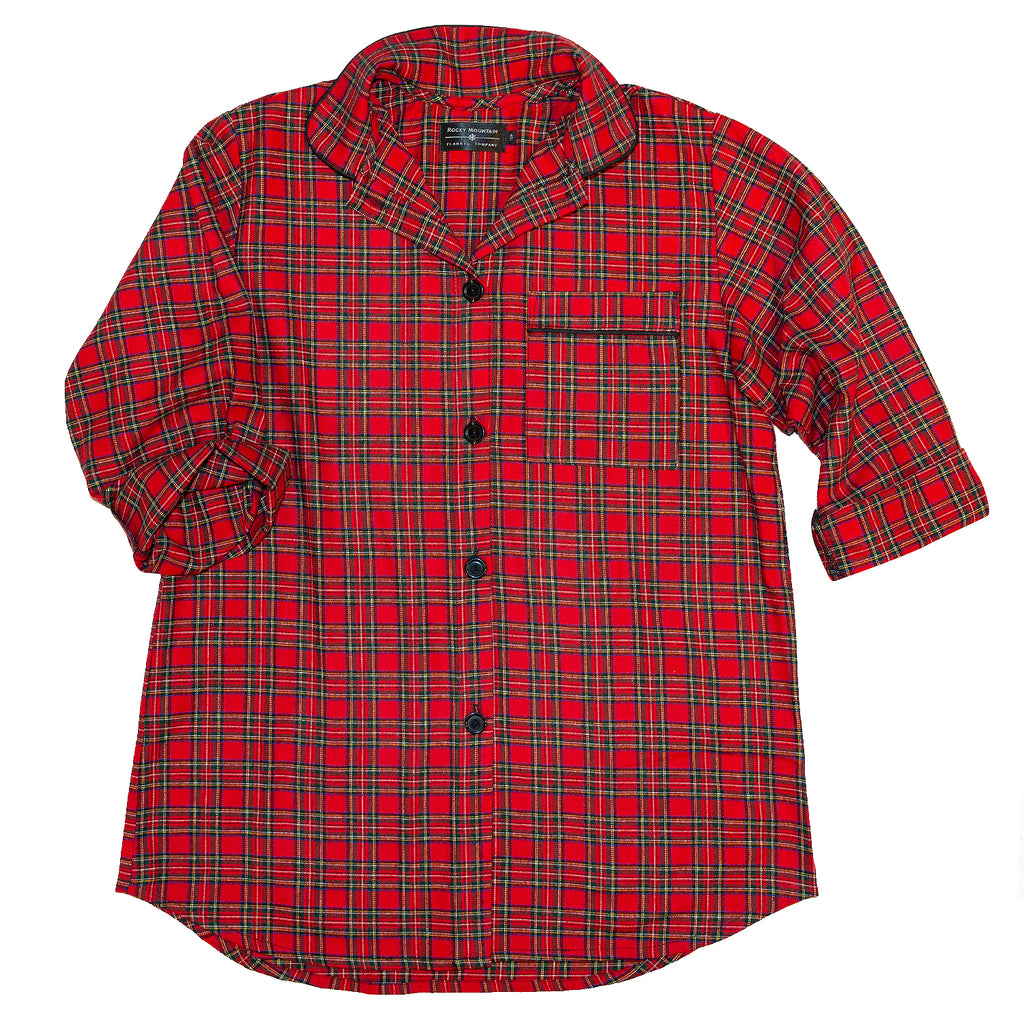 115 /  Woman's Easy Fit Flannel Nightshirt / Royal Stewart Tartan