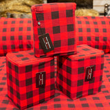 100% COTTON HEAVYWEIGHT FLANNEL SHEET SET IN RED BUFFALO CHECK