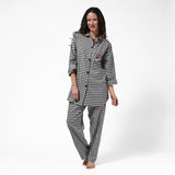 Rocky Mountain Flannel Easy Fit 2 Pc. Flannel Pyjamas with Loon Logo in Small Buffalo Check Front View