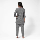 Rocky Mountain Flannel Easy Fit 2 Pc. Flannel Pyjamas with Bear Logo in Small Buffalo Check Back View