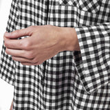 Rocky Mountain Flannel  Easy Fit 2 Pc. Flannel Pyjamas in Small Buffalo Check Cuff Sleeve View
