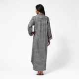 Rocky Mountain Flannel Long Flannel Nightshirt with Loon Logo in Small Buffalo Check Back View