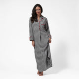 Rocky Mountain Flannel Long Flannel Nightshirt in Small Buffalo Check Front View