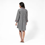 Rocky Mountain Flannel Knee Length Flannel Nightshirt in Small Buffalo Check Back View