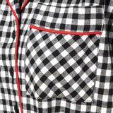Rocky Mountain Flannel Knee Length Flannel Nightshirt in Small Buffalo Check Pocket View