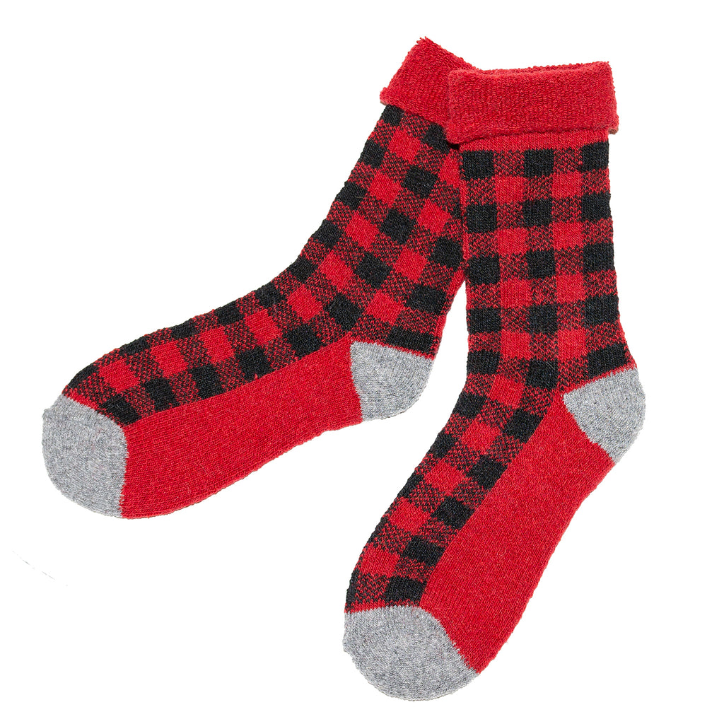 Women's Red Black Sock