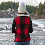 Sherpa Lined Buffalo Check Flannel Vest