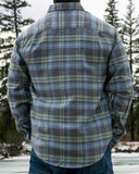 412 Faded Grey and Mint Men's Flannel Shirt