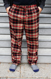 Mens Flannel Lounge Pant / Camel/Black