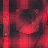 Red Black Vintage Unisex Plaid Flannel Shirt