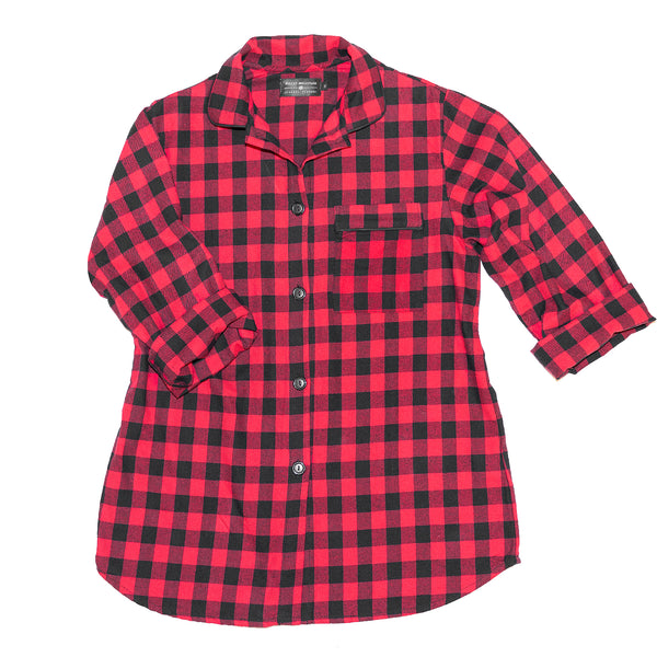 115 / Easy Fit Nightshirt / Small Buffalo Check Red/Black