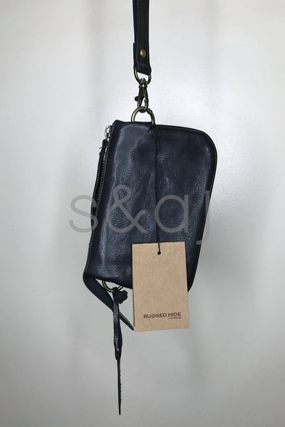 Rugged Hide - Geelong - Slim clutch - Black