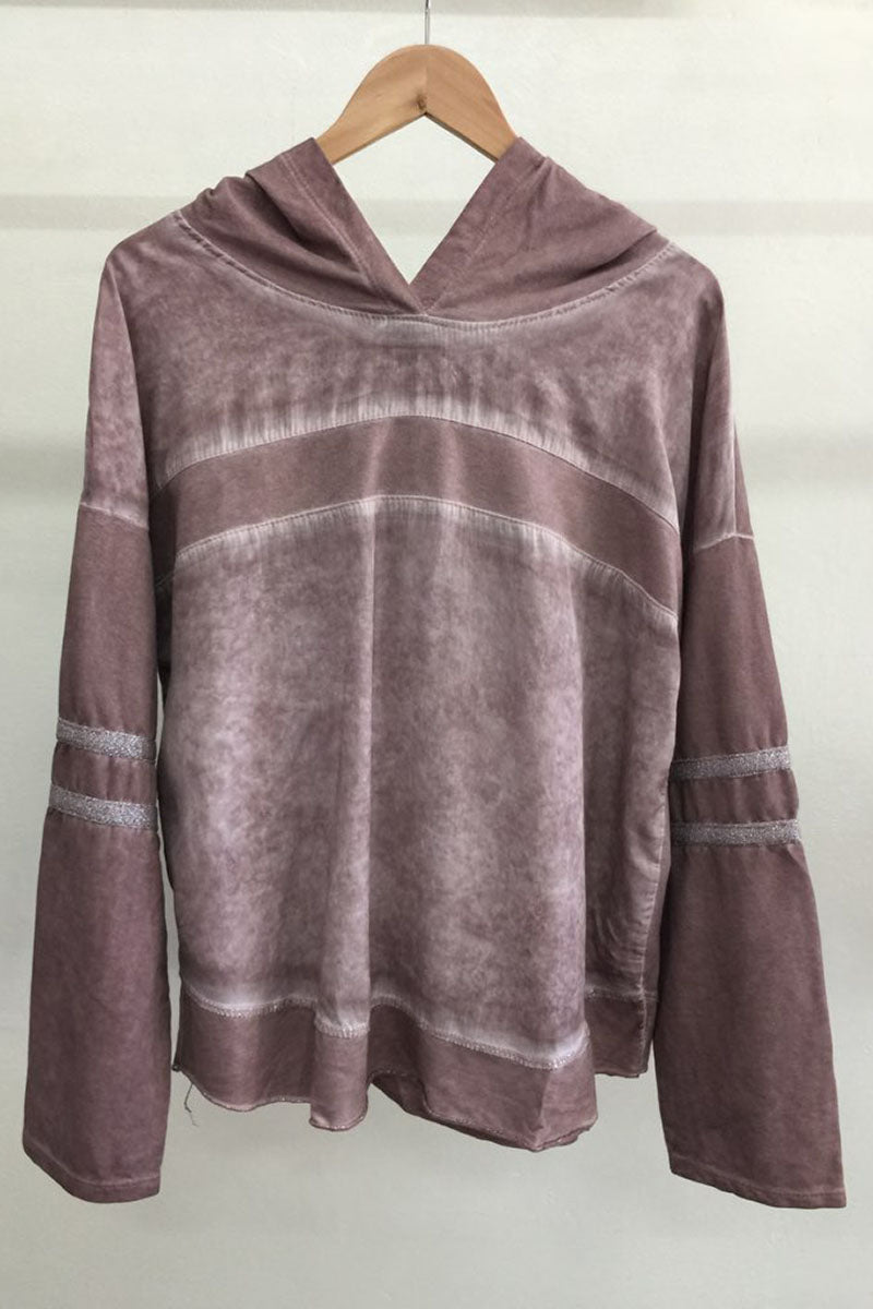 Amici - Matteo Cold Wash Tencel Hooded Top - Rose