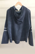 Amici - Matteo Cold Wash Tencel Hooded Top - Blue
