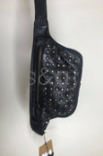 Rugged Hide - Miami - Studded Belt Bag - Black