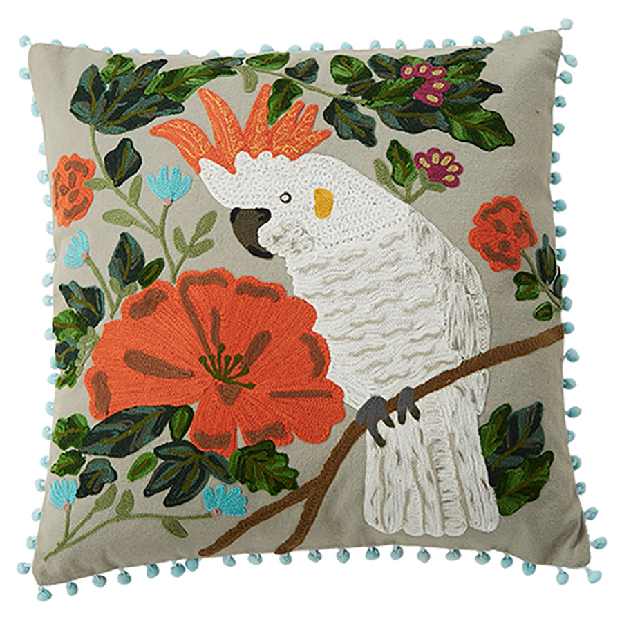 Cockatoo Cushion 45x45cm