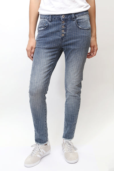 Bianco Jeans - Striped Buttercup Denim