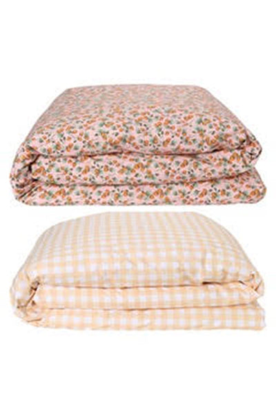 Kip & Co - THE PATCH PEACH RV GINGHAM QUILT COVER