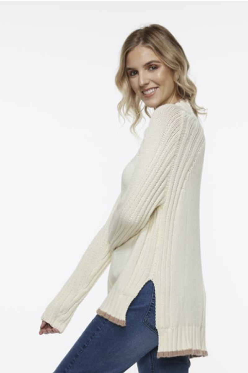 Z&P Weekend - Chunky Turtleneck - Buttermilk