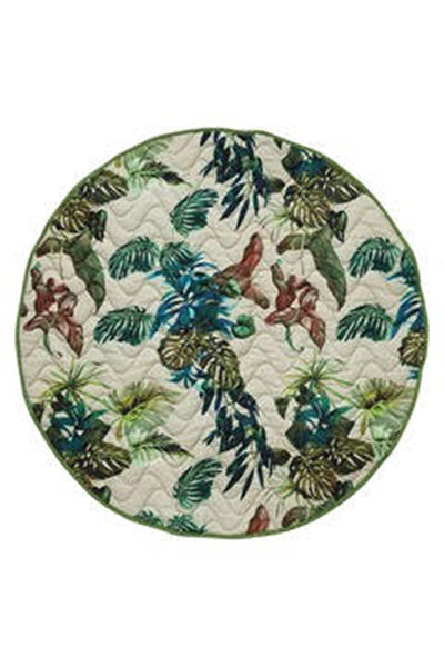Kip & Co - FOLIAGE QUILTED BABY PLAY MAT