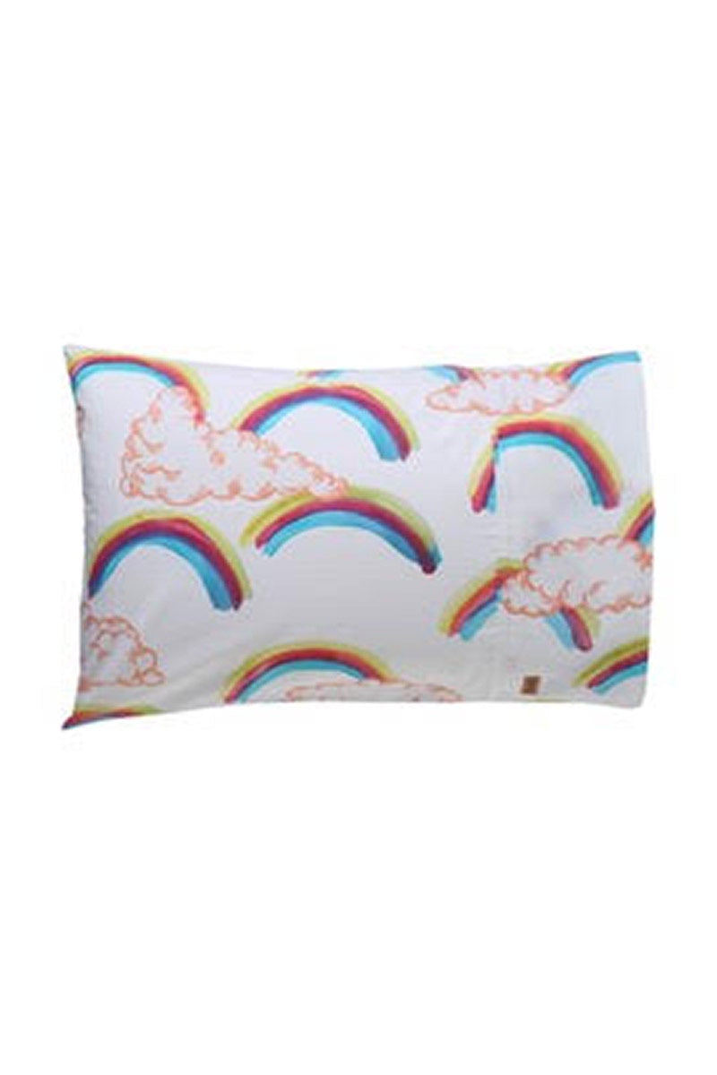Kip & Co - OVER THE RAINBOW COTTON SINGLE PILLOWCASE