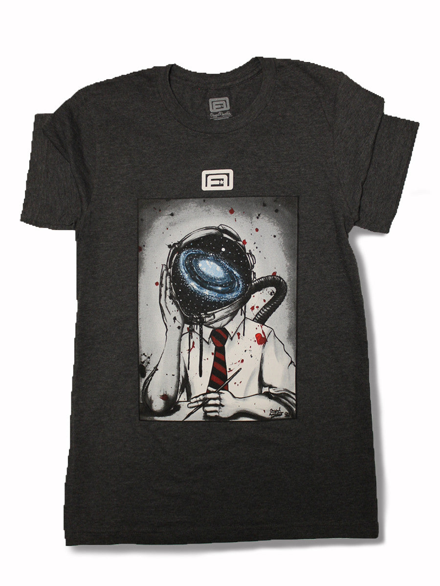 Original Spaced Out Charcoal Triblend T-Shirt (100% ringspun cotton)