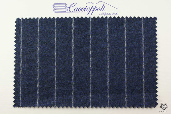 """Banchiere"" - Pinstripe Blue Suit"
