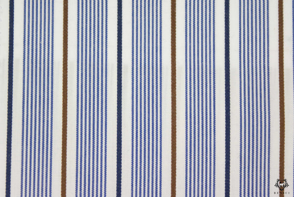 """Distinto"" - Striped Brown Shirt"