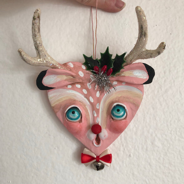 Pink Deer Ornament