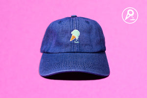 FWESH RELEASE: Denim Mint Dipped Cone Dad Hat
