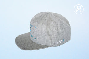 Grey Dipped Cone Snapback