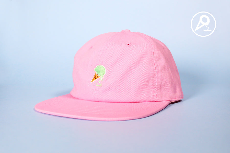 Pink Mint Dipped Cone Dad Hat