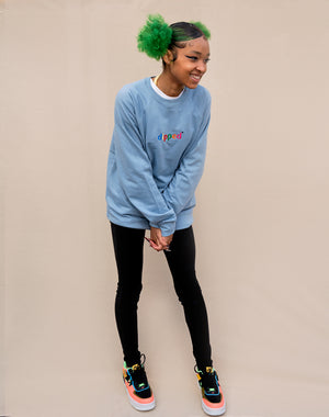 DIPPED Embroidered Colors Crewneck