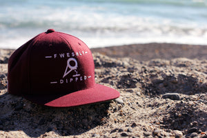 Maroon DIPPED Cone Snapback