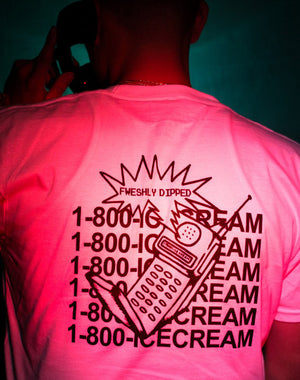 DIPPED Hotline Tee 1800 Icecream