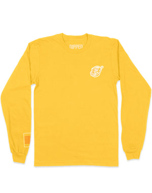 dipped keep swimming yellow scuba long sleeve
