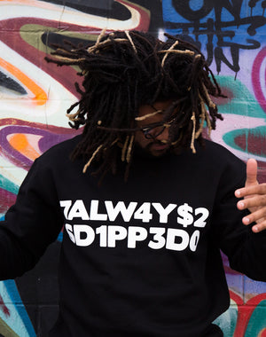 Dipped Letters Crewneck