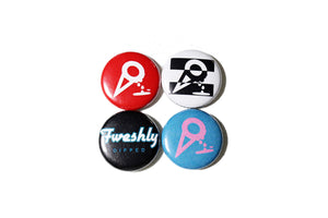 Fweshly Dipped Pins (4 Pack)