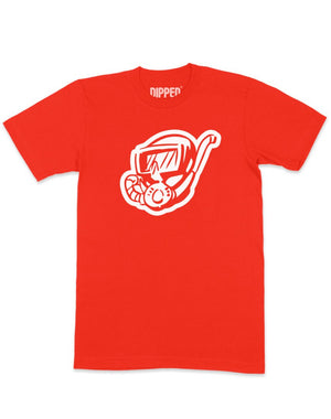 dipped red scuba diver shirt