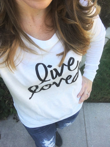 Live Loved Slouchy Tee