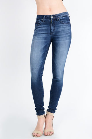 Mid Rise Medium Wash Denim