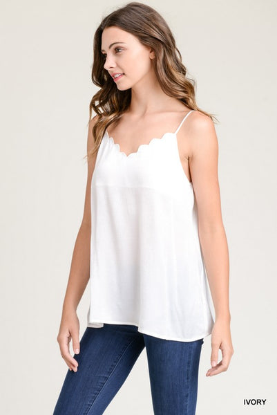 Seaside Scalloped Tank