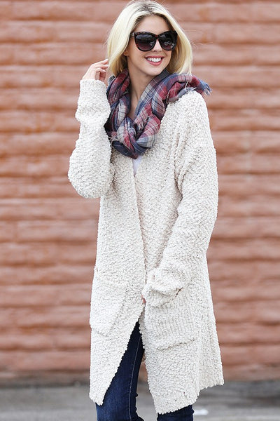 Popcorn Sweater Cardigan