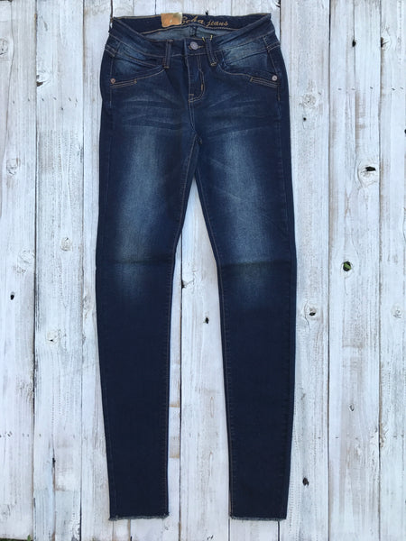 Frayed Edge Skinny Denim