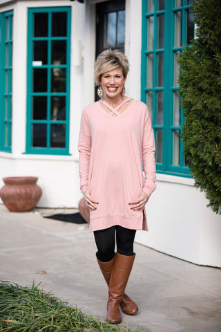Snow Queen Tunic in Blush