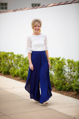 Hayden Wide Leg Pants Navy