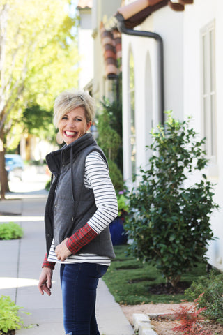 Puffer Vest in Charcoal